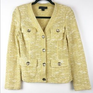 St. John Size 2 Light Yellow Blazer